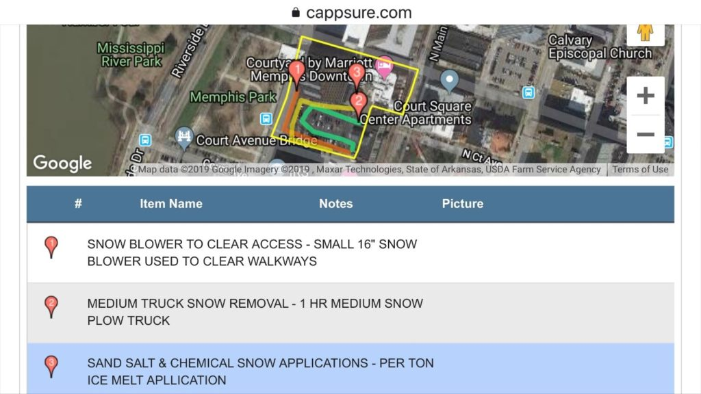 Email By Snow Removal Services App